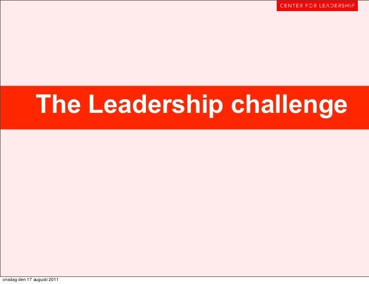 The Leadership challengeonsdag den 17 augusti 2011