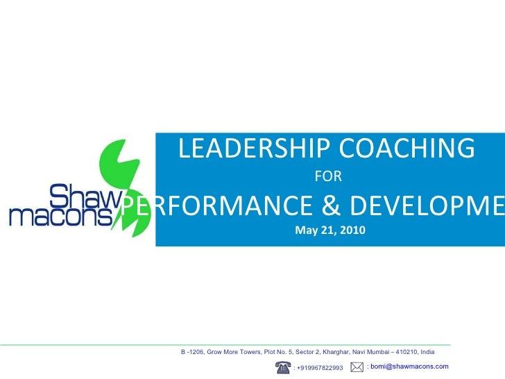 Leadership coaching for performance & development at NIPM