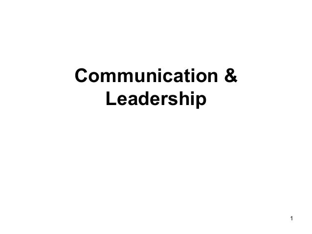 1 Communication & Leadership