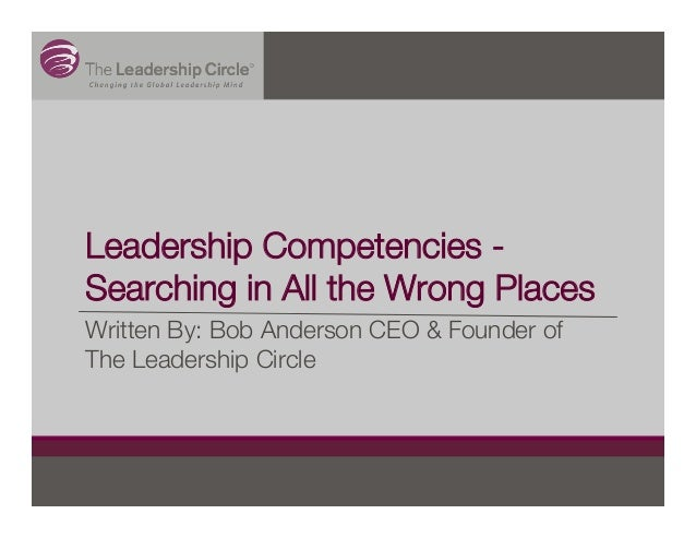 Leadership Competencies - Searching in All the Wrong Places