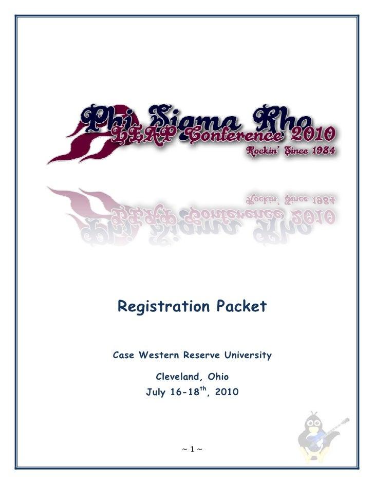 Leadership Conference 2010 Registration Packet