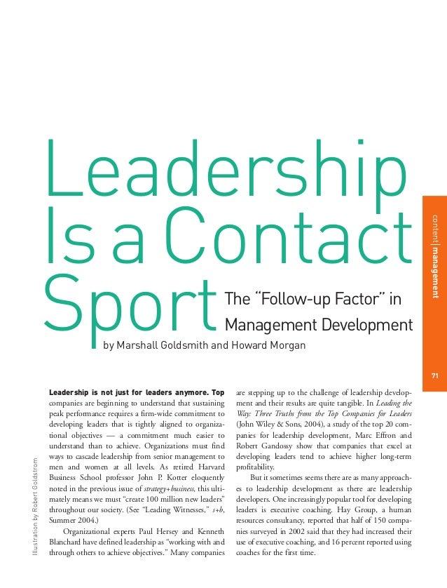 Leadership contact sport
