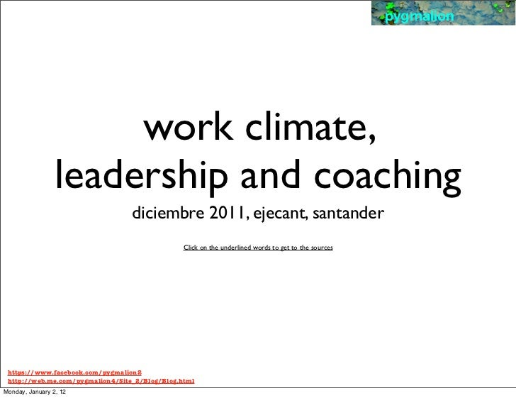 pygmalion                      work climate,                 leadership and coaching                                  dici...