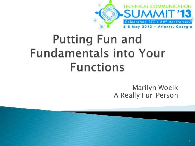 Putting Fun and Fundamentals into Your Functions