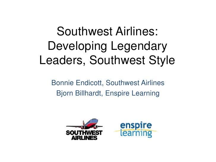 Developing Legendary Leaders, Southwest Style
