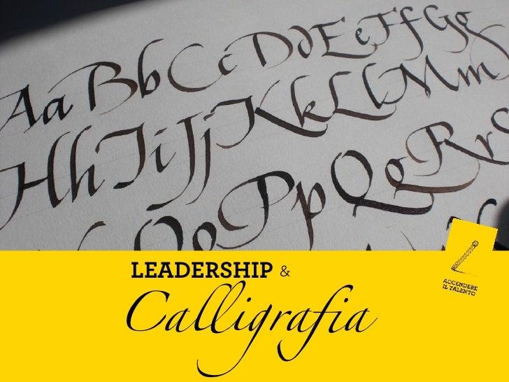 Leadership e calligrafia