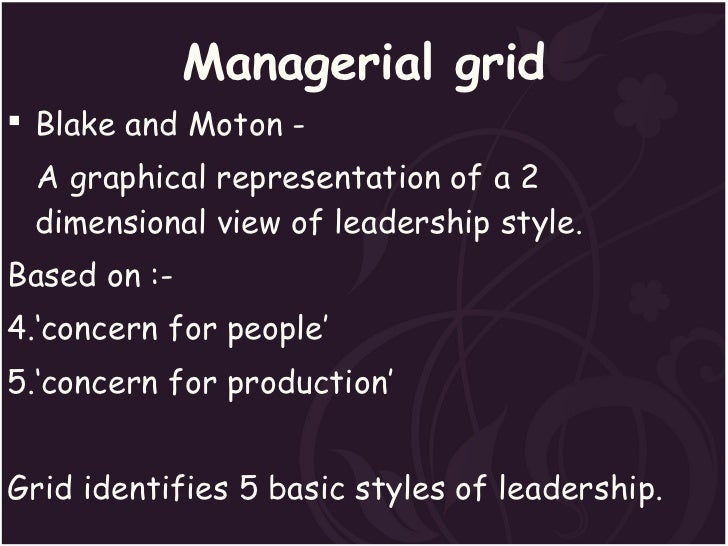 leadership grid essay The leadership grid chapter  a key ingredient in leadership, especially in  transforming others  task – whether it be writing an essay or mowing a lawn .