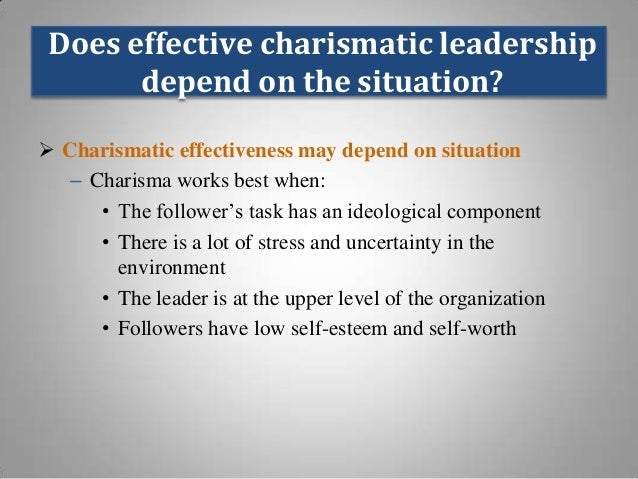 2 types of charismatic leadership There are variety of leadership styles out there which ceo's of large and small organizations adopt in this leadership, the charismatic leader manifests his or.