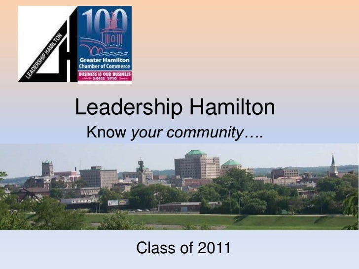 Leadership HamiltonKnow your community….<br />Class of 2011<br />