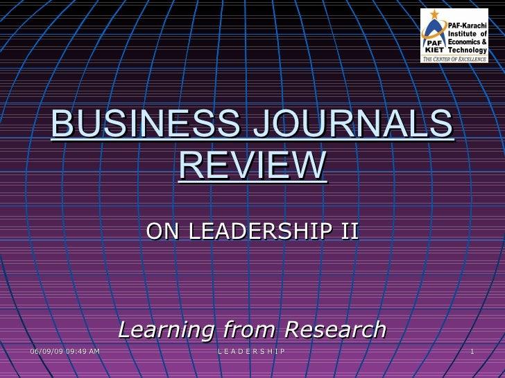 BUSINESS RESEARCH-Leadership Ii