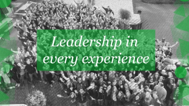 Leadership in every experience final