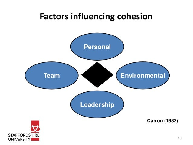 effect of team cohesion on performance Finally, team norms explained an additional 6% (f=6,830, pof team cohesion, intra team communication and team norms on team member satisfaction and intent to remain of team players were substantiated.