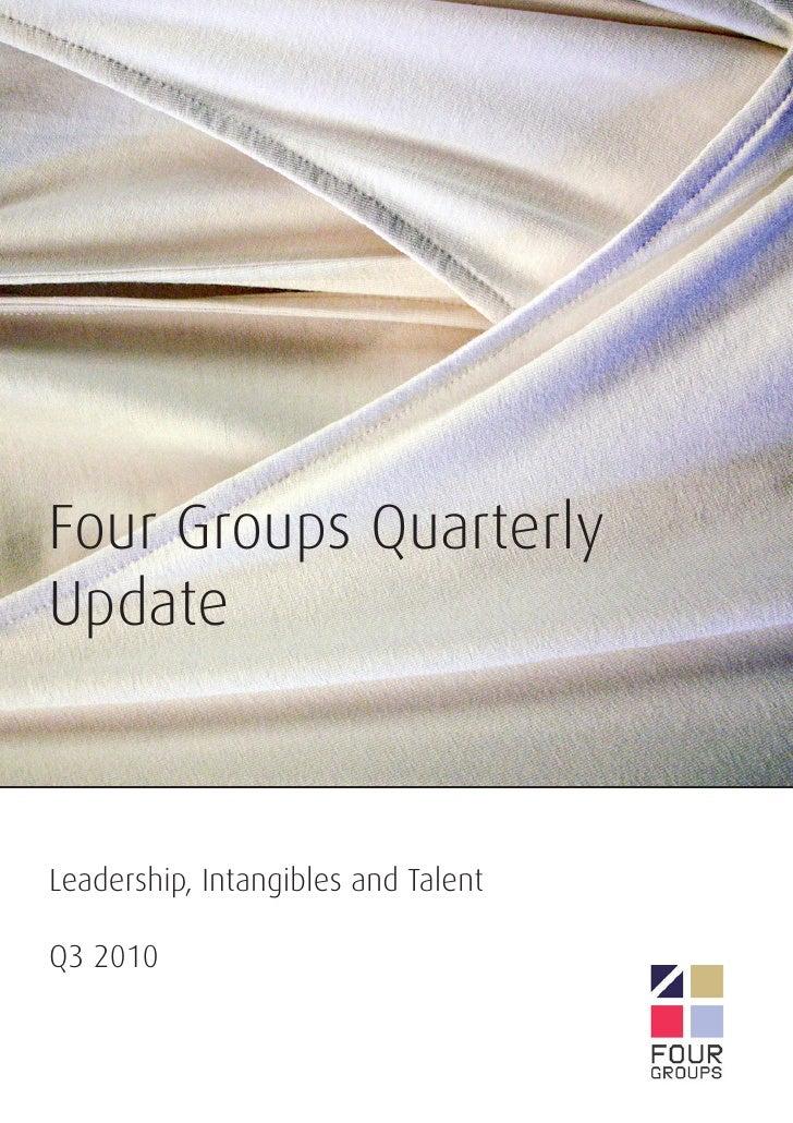 Leadership, Intangibles & Talent Q3 2010