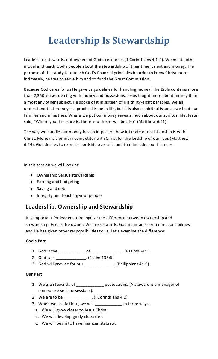 Leadership is stewardship (ej guevarra)