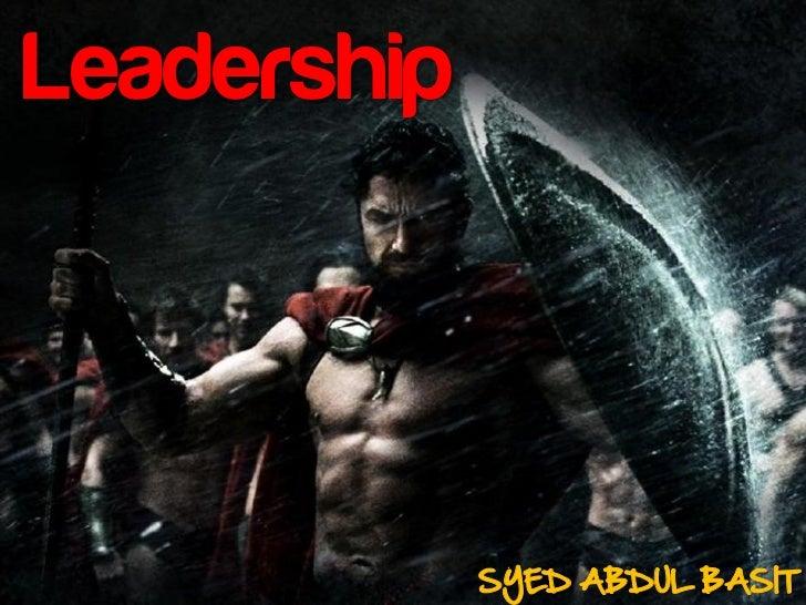 Leadership             SYED ABDUL BASIT