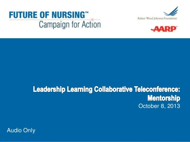 Leadership Learning Collaborative Call on Mentoring