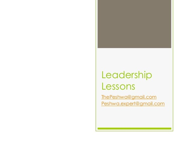 Leadership lessons for young people
