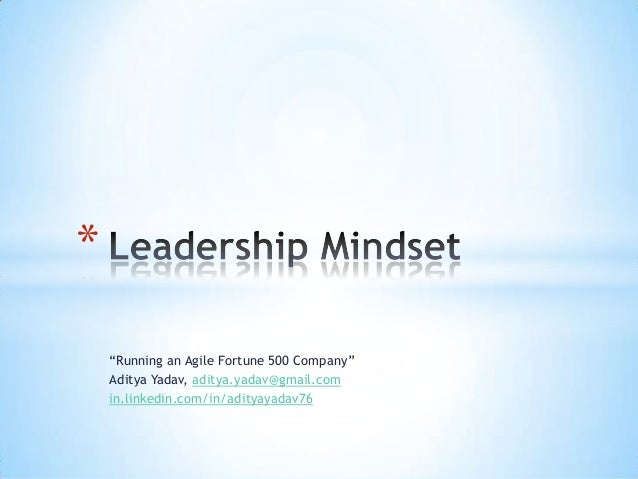 Leadership Mindset - Aditya Yadav