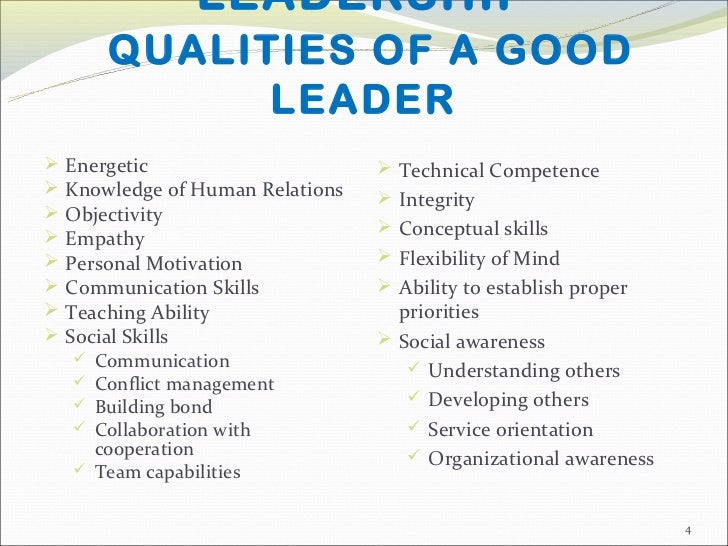 good qualities of a leader essay