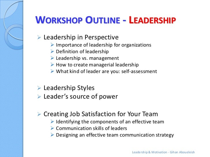 Leadership Outline Examples – PDF
