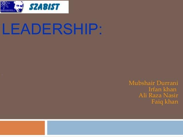 Leadership &  motivation presentatiion