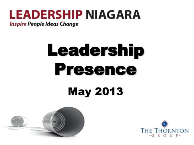 Leadership niagara   presence - 2013