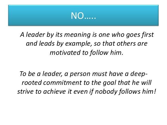 follow a leader essay