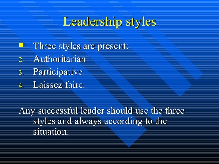 leaderwship styles How nursing leadership styles can impact patient outcomes and organizational performance date: april 19, 2016 nurses play vital roles in health care organizations.