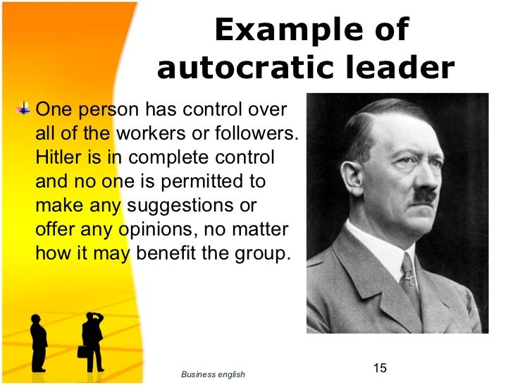 what is the autocratic leadership style