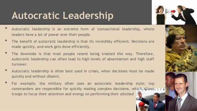 leadership characteristics autocratic or democratic essay Essay by chrissy_chaos, college, undergraduate, a, december 2008  most  leadership characteristics can be categorized into these two groups further  of  basic characteristics of both autocratic and democratic government and leaders, .