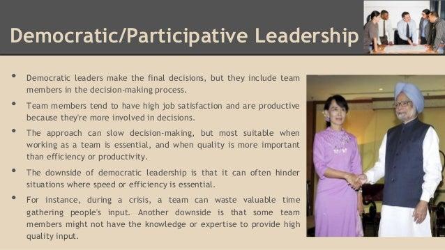 characteristics of democratic leadership pdf