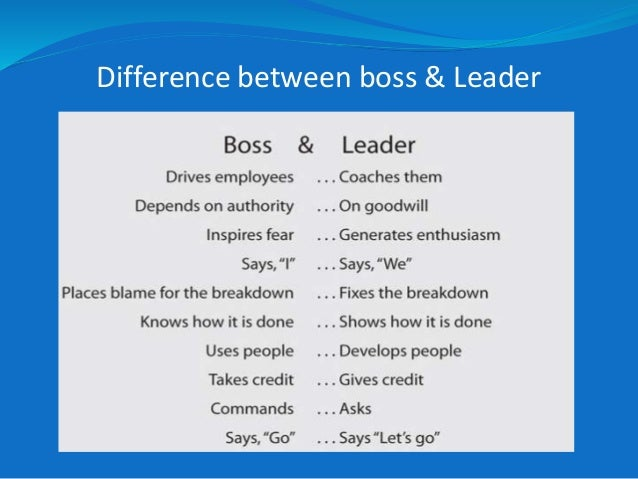 Difference Between Boss And Leader Image 9 Difference Between Boss