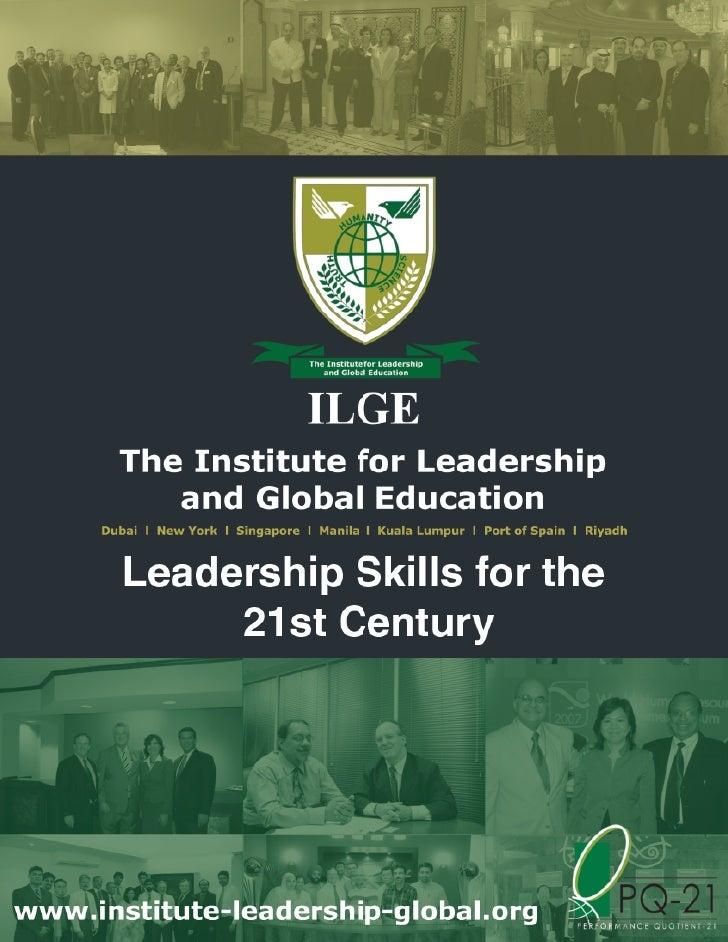 Leadership Skills For The 21 St Century   Dubai  June 4 5, 2012    Ls010b V2
