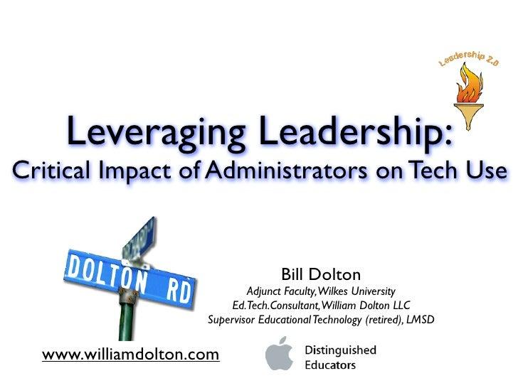 Leveraging Leadership: Administrators & Technology