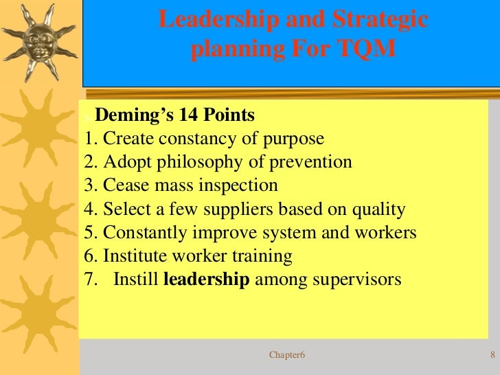 discuss the interrelationships among demings 14 points This question can be used to develop and discuss alternative viewpoints and definitions of quality  discuss the interrelationships among deming's 14 points how .