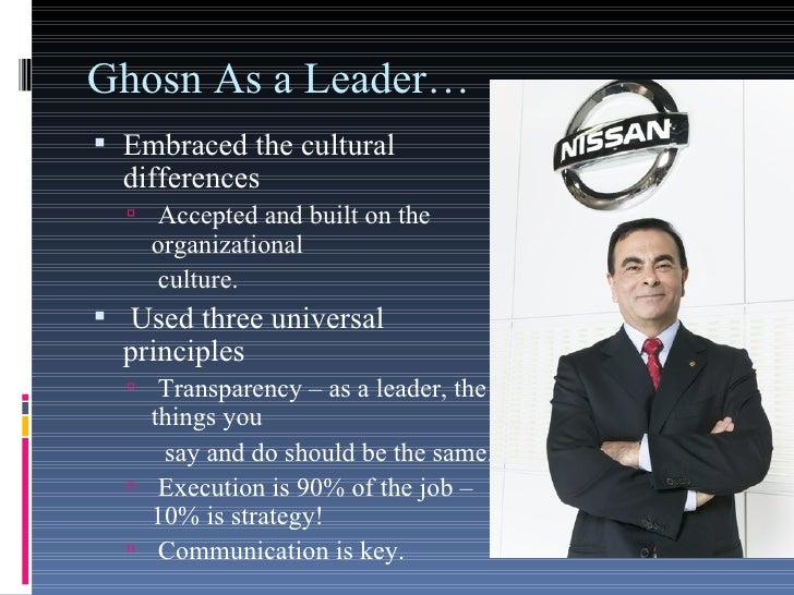 analyses the leadership of carlos ghosn By harbir singh and michael useem based on the authors' new book, the strategic leader's roadmap, this article stresses that strategic leadership con.