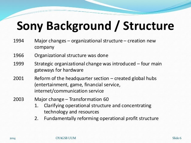 sony organizational behaviour World‐class organizations are investing in order to capitalize on the one true  source  this way a more accurate observation of likely behaviour can be  gained.