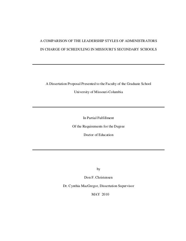 Dissertation leadership thesis