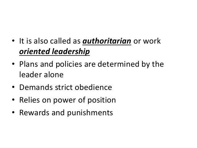 advantages of authoritarian leadership style