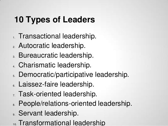 types of charismatic leadership