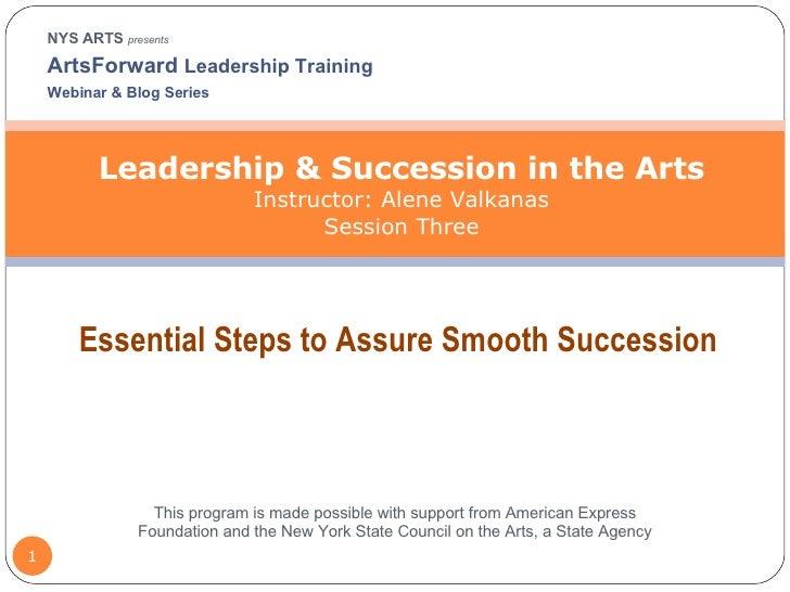 Leadership Succession Session3