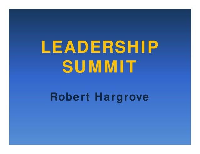 Leadership Summit: Developing Transforming Leaders