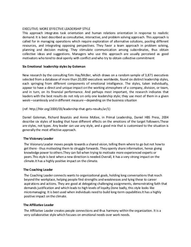 leadership primary principles essay Effective leadership in the church applying sound leadership principles to primary author and chair of the leadership development task force that.