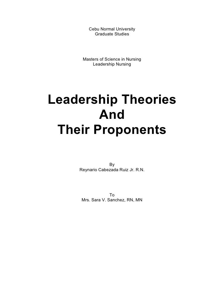 Leadership Theories and Proponent