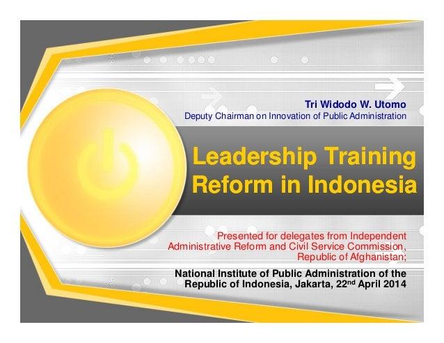 Leadership Training Reform in Indonesia