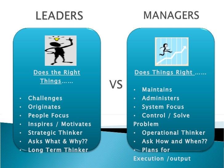 Manager vs Leader Images Leader vs Manager