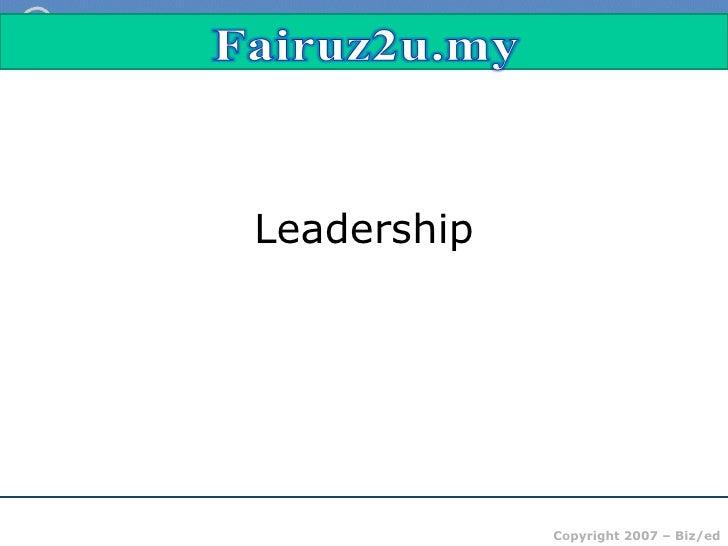 theory of leadership