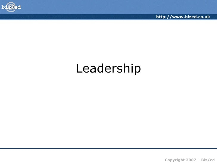 Leadertypes