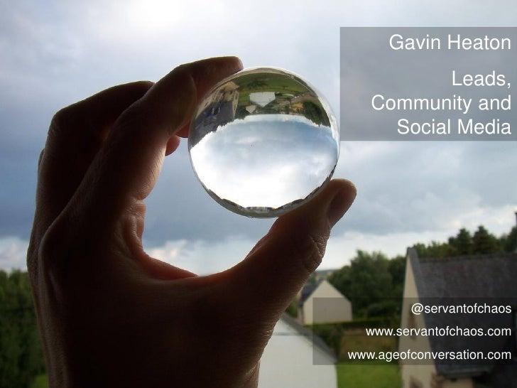 Lead Generation, Community and Social Media