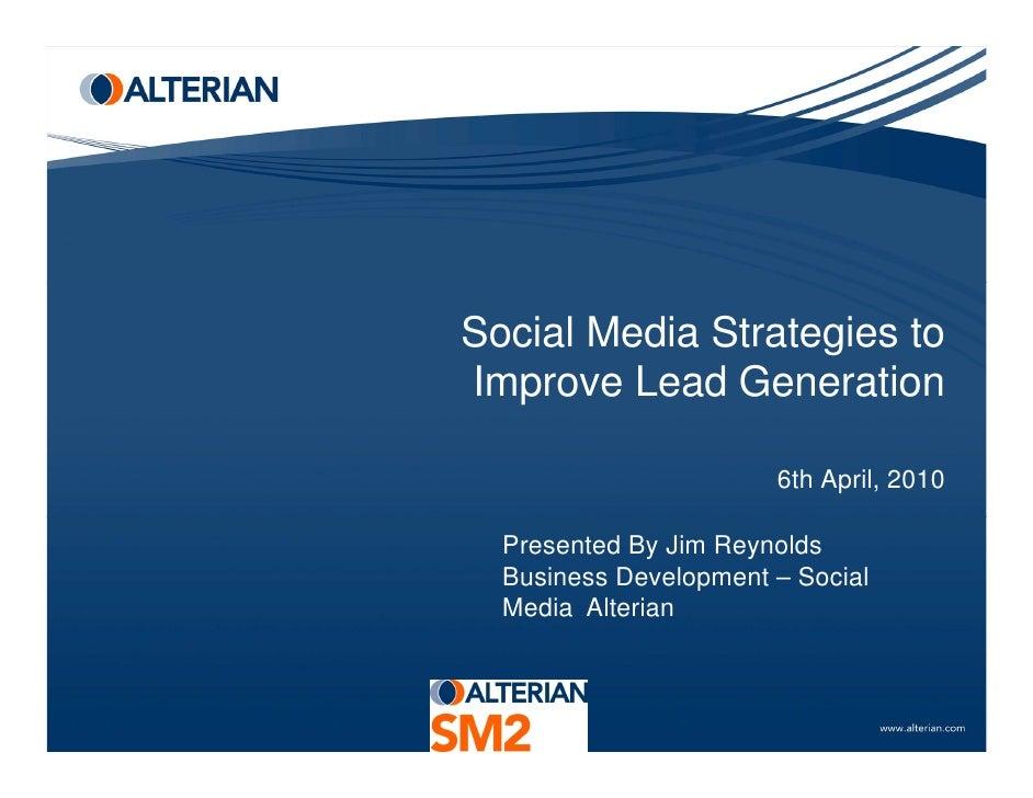 Social Media Strategies to Improve Lead Gen